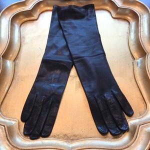 Vintage Black Leather Gloves Sz 7